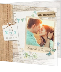 Romantisch - kaart Bohemian wedding 127006