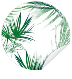 Sticker - kaart Stoere sluitzegel met groen jungle design 157154
