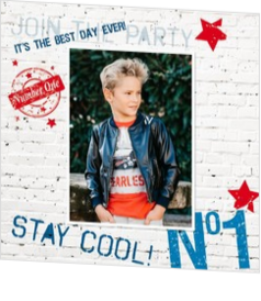 Fotokaart communie - Stay cool 164041BA