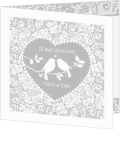 Romantisch - kaart Uitnodiging - Love birds 186003NL