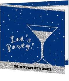 Feest - kaart Uitnodiging - Let's party! 186038NL