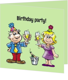 Uitnodigingen - kaart Birthday party - Verjaardagsuitnodiging 184067BA