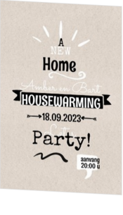 Hip - kaart Uitnodiging - Housewarming 188007