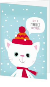 Cartoon - Kerstkaart - Purrfect Christmas 137009